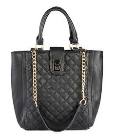 Another great find on #zulily! Black Taryn Quilted Tote #zulilyfinds