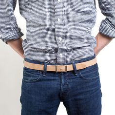 I just checked out the men's the slim belts at Everlane. $30