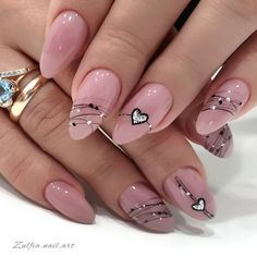 Speing Nails, Diy Nails Manicure, French Manicure Nail Designs, Classy Nail Designs, Swag Nails, Elegant Nails, Classy Nails, Trendy Nails, Oval Acrylic Nails