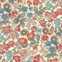 Red and Blue Calico Floral Print Italian Paper ~ Carta Varese Italy