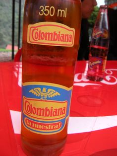 It tastes like cream soda and its real good when poured into beer. Colombian soda