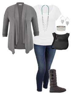 """Comfy casual and grey-""""Plus Size Outfit"""" by jmc6115 on Polyvore"""