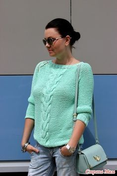 Девочки, всем приветик! Приглашаю всех желающих научиться вязать со мной регланом! Вяжу пуловер для себя, размер 42. Для удобства предлагаю общение на ты.