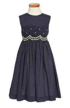 Luli & Me Polka Dot Smocked Sleeveless Dress (Toddler Girls, Little Girls & Big Girls) available at #Nordstrom