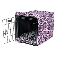 Bowsers Luxury Crate Cover - Purple Rain