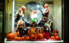 Decoración de escaparates para Halloween