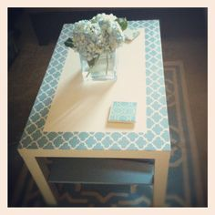 Upcycled Ikea Coffee Table, i should have done this to my old ikea table that was exactly like this instead of giving it away!
