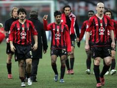 Ambrosini, Gennaro Gattuso, Vikash Dhorasoo, Alessandro Nesta, Clarence Seedorf, Jaap Stam & Andre Pirlo - AC Milan