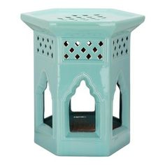 Safavieh - Robbins Egg Blue Moroccan Garden Stool ACS4522C - Lend an exotic accent to your backyard, living room, bedroom or hall with our M...