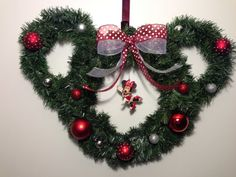 Ready to ship Minnie Mouse Holiday Disney Wreath on Etsy, $35.00