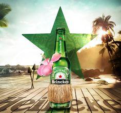 "Chris Laistler's entry into the Heineken ""Our Bottle. Your Art. Hawaiian Heineken"" Contest"