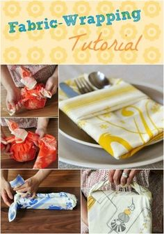 Forget gift wrap and whatnot -- Fabric-Wrapping Tutorials! So lovely.