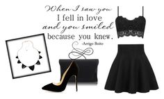 """""""Outfit fo rthe night party #47"""" by fashioncrazeof ❤ liked on Polyvore featuring Retrò and Blu Bijoux"""