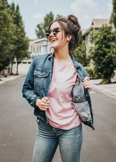 We see you. Style this shirt on its own, or tuck it into your favorite jeans (you know the ones). See size chart. Stylish Photo Pose, Stylish Girls Photos, Stylish Girl Pic, Portrait Photography Poses, Fashion Photography Poses, Teen Girl Photography, Best Photo Poses, Girl Photo Poses, Cute Girl Face