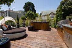 Backyard Deck with custom barbecue
