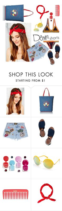 """long hair, short pants"" by roxariaone ❤ liked on Polyvore featuring Urban Renewal, Love Moschino, MadeWorn, Tory Burch, Beauty & The Beach, jeanshorts, denimshorts and cutoffs"