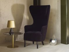 Home I Interior I Furniture I Brass I Messing I Lighting I Tischleuchte I Base Table Lighting & Wingback Armchair by Tom Dixon