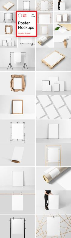 Poster Mockups - Studio Scene - Collection of 30 PSD Poster Mockups that will help you showcase your work i. Design Visual, Tool Design, Design Projects, Design Design, Graphic Design Fonts, Graphic Design Inspiration, Design Posters, Brand Identity Design, Identity Branding