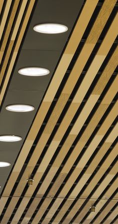 Linear Ceilings Aluminium by Hunter Douglas Architectural. Close up photography Architecture.