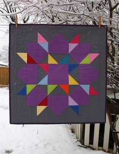 Solid Swoon Mini Quilt.  Love the pebbling quilting and this would be beautiful in Cherrywood fabrics.