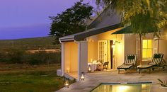 River Bend Lodge - Luxury in the middle of the wild. Your own view of the animals from your cottage! Honeymoon suite with private plunge pool. Honeymoon Suite, Plunge Pool, Pool Houses, House Plans, Cottage, River, Mansions, Luxury, House Styles