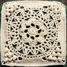 """Ravelry: LisaSh's Cathedral Converts 12"""" Afghan Block Tutorial/Re-write"""