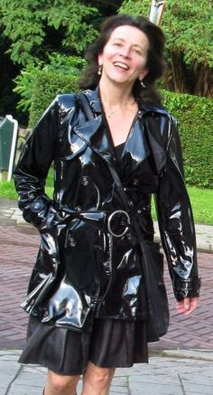 a woman from holland in leather
