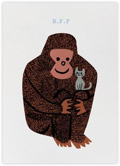 Red Cap Cards by Christian Robinson Illustration Singe, Graphic Illustration, Christian Robinson, Primates, Mundo Animal, Kitsch, Cat Art, Illustrations Posters, Animal Illustrations