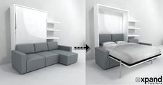 ~~Go to the webpage to learn more about hidden bed desk wall bed. Click the link to find out more. Enjoy the website! Murphy Bed Couch, Murphy Bed Plans, Sofa Bed, Expand Furniture, Murphy-bett Ikea, Bed Unit, Modern Murphy Beds, Hidden Bed, Budget Planer