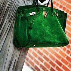 Omg! Green..suede..Birkin!!!!!!