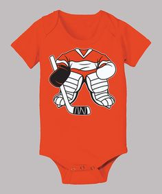 Take a look at this Orange Goalie Uniform Bodysuit - Infant by Airwaves on #zulily today!