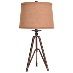 """Tripod 28.5"""" H Table Lamp with Empire Shade"""