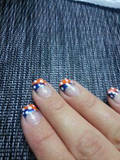 Denver Broncos nails :)