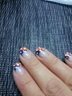 Denver Broncos nails :)
