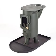 The Traveller stove log burner mutli-fuel portable wood burner Forest Green . Boat Heater, Stove Heater, Tiny Wood Stove, Portable Wood Stove, Save Fuel, Dishwasher Soap, Wood Fired Oven, Rocket Stoves, Log Burner