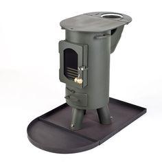 The Traveller stove log burner mutli-fuel portable wood burner Forest Green   eBay
