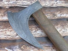 Hand Forged Custom Made Damascus Steel Viking Long Bearded Axe Exclusive Offer Custom Orders are Accepted For Axes and Knives Dimensions