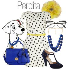 """""""Dapper Day 2014: Perdita"""" by bleeanco on Polyvore - I know this isn't really Disneybound, but it's close"""