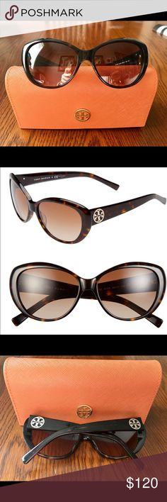 Tory Burch Cat Eyed Sunglasses with case!  Tory Burch Cat Eye sunglasses are going for lowest 150$ everywhere else! I paid $180 at Nordstrom. They have some minor dots/scratches on the lenses but they don't affect vision and are only noticeable under close inspection. Grab these stylish glasses while you can!!!  Tory Burch Accessories Sunglasses