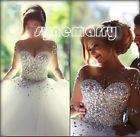 2016 New White/Ivory Bridal Gown Wedding Dress Size 8 10 12 14 16 18Custom made