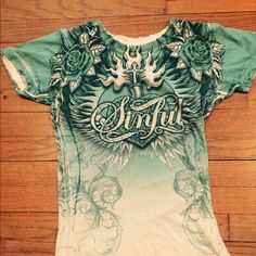 Sinful by Affliction t-shirt In excellent condition this shirt has only been worn once !  Size medium. Affliction Tops Tees - Short Sleeve