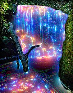 Neon Waterfall - animation on the phone . Wallpapers Tumblr, Live Wallpapers, Gif Pictures, Moving Pictures, Beautiful Waterfalls, Beautiful Landscapes, Beautiful Gif, Beautiful Pictures, Gif Bonito