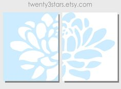 Lotus Pair Prints, 2 - 8x10 You Choose the Colors, Wall Art Unframed, Perfect for Any Room in Matching Colors