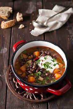 Adzuki Bean and Butternut Squash Soup | www.bakenoir.com