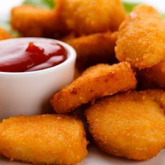 This is a recipe for crispy chicken nuggets, serve with your favorite dipping sauce. . Chicken Nuggets  Recipe from Grandmothers Kitchen.