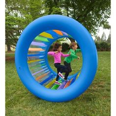 The good times start to roll the instant kids spy this giant inflatable toy. Climb inside and move it along by walking foot over foot, on all fours, or have a friend push you along. Stand outside and roll it all over the Backyard Toys For Kids, Outdoor Toys For Kids, Outdoor Play, Outside Toys For Kids, Backyard Ideas, Indoor Playground For Kids, Outdoor Games, Poupées Our Generation, Giant Inflatable