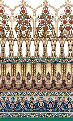 e bouter's media content and analytics Textile Prints, Textile Patterns, Textile Design, Print Patterns, Textiles, Arabesque, Pattern Art, Pattern Design, Art Nouveau