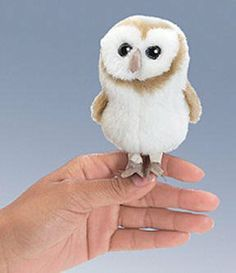 Mini Barn Owl Finger Puppet at theBIGzoo.com, a toy store with over 12,000 products. toy store, mini barn, owl finger, finger puppets, barn owls