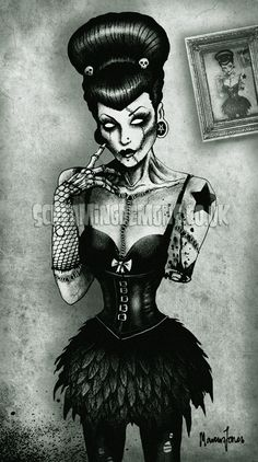 Zombie Pinup - tattoo inspiration