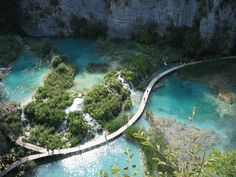 The Plivitice Lakes National Park in Croatia.. would be an awesome [series of] hike(s) #letsgo